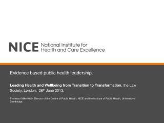 Evidence based public health leadership.