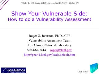 Show Your Vulnerable Side: How to do a Vulnerability Assessment