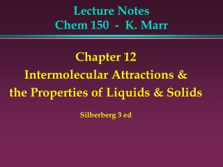 Lecture Notes  Chem 150  -  K. Marr