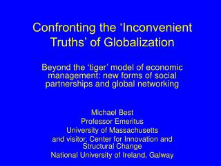 Confronting the 'Inconvenient Truths' of Globalization