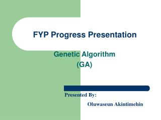 FYP Progress Presentation