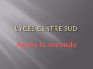 LYCEE CENTRE SUD