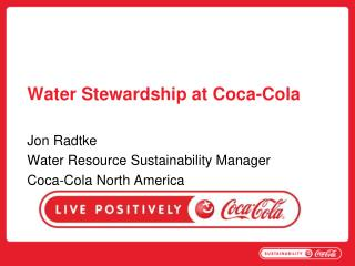 Water Stewardship at Coca-Cola