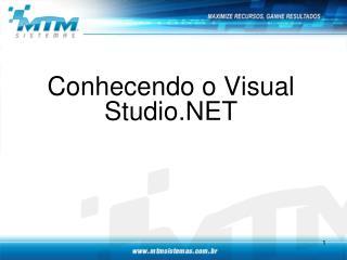 Conhecendo o Visual Studio.NET