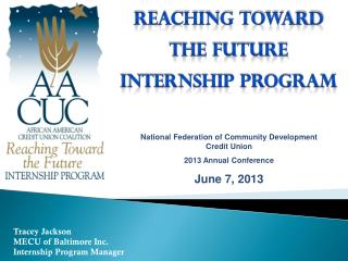 Tracey Jackson MECU of Baltimore Inc. Internship Program Manager