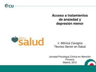Acceso a tratamientos de ansiedad y depresión menor