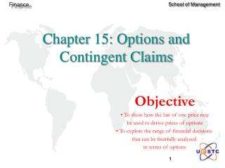 Chapter 15: Options and Contingent Claims