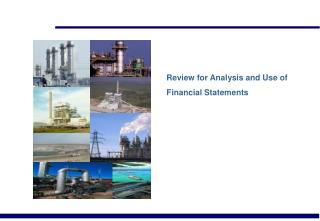 Review for Analysis and Use of Financial Statements