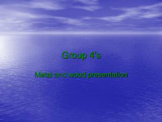 Group 4's