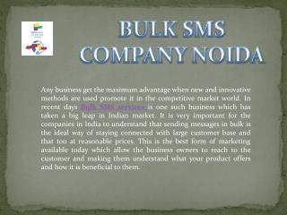 BULK SMS COMPANY NOIDA