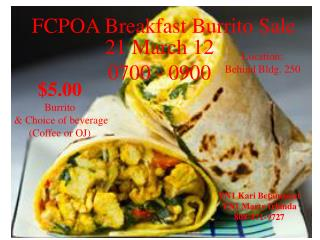 FCPOA Breakfast Burrito Sale