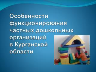 Особенности функционирования частных дошкольных организаций в Курганской области