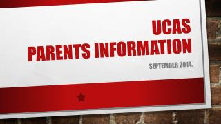UCAS PARENTS INFORMATION