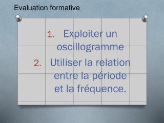 Evaluation formative