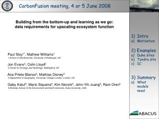 CarbonFusion meeting, 4 or 5 June 2008