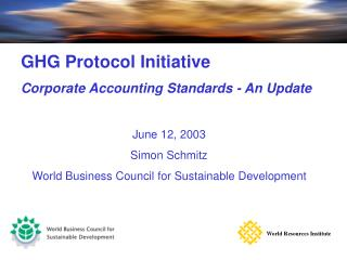 Corporate Emissions Inventory Module –  A guide to corporate accounting and reporting standards