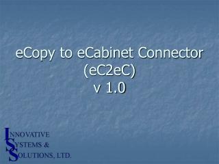 eCopy to eCabinet Connector (eC2eC) v 1.0