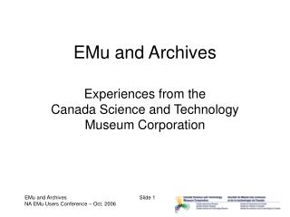 EMu and Archives