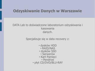 DATA Lab Warszawa