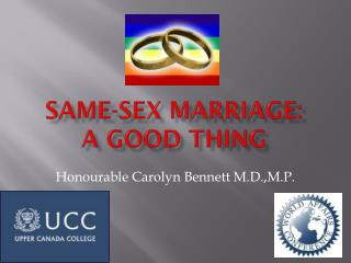 Same-Sex Marriage: A Good Thing