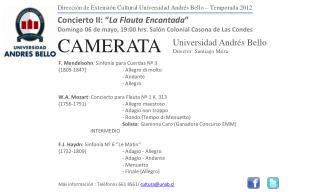 Dirección de Extensión Cultural Universidad Andrés Bello – Temporada 2012