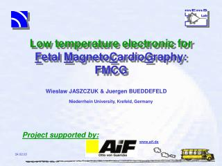 Low temperature electronic for F etal  M agneto C ardio G raphy: FMCG