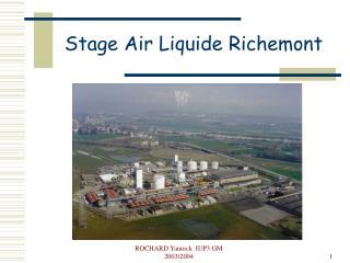 Stage Air Liquide Richemont