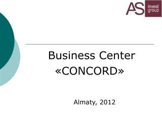 Business Center « CONCORD »