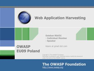 Web Application Harvesting