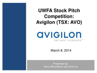 UWFA Stock Pitch Competition: Avigilon (TSX: AVO)