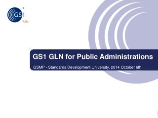 GS1 GLN for Public Administrations