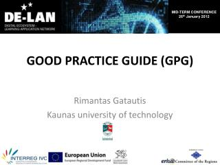 GOOD PRACTICE GUIDE (GPG)