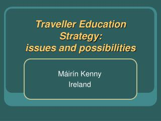 Traveller Education Strategy:  issues and possibilities