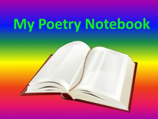My Poetry Notebook
