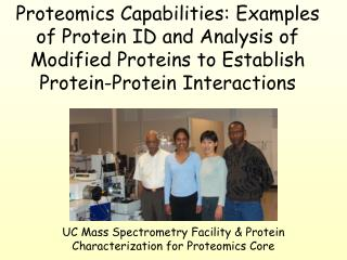UC Mass Spectrometry Facility & Protein Characterization for Proteomics Core