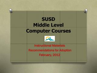 SUSD Middle Level Computer Courses