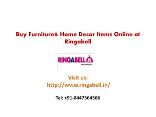Buy Furniture & Home Decor Items Online at Ringabell
