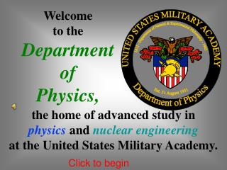 Welcome to the Department of Physics,