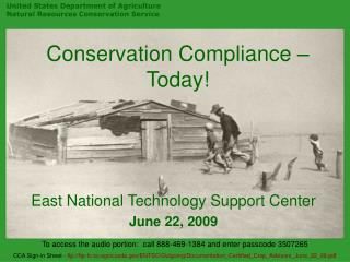 Conservation Compliance – Today!
