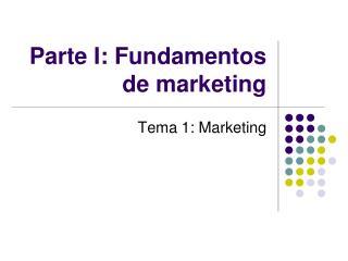 Parte I: Fundamentos de marketing