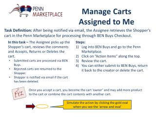 Manage Carts  Assigned  to  Me