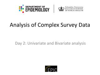 Analysis of Complex Survey Data
