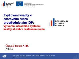 Členské fórum ATIC   Polička