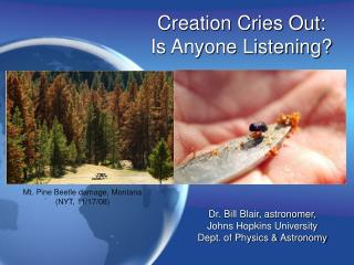 Creation Cries Out: Is Anyone Listening?