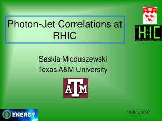 Photon-Jet Correlations at RHIC
