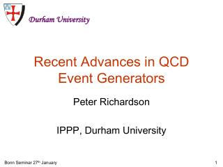 Recent Advances in QCD Event Generators