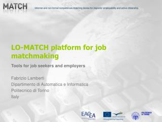LO-MATCH platform for job matchmaking