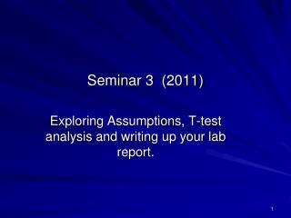 Seminar 3 (2011)