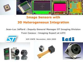 Image Sensors with 3D Heterogeneous Integration