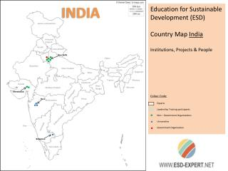 Education for Sustainable Development (ESD) Country Map  India Institutions, Projects & People
